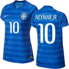 NIKE NEYMAR JR BRAZIL AWAY WOMENS JERSEY COPA AMERICA 2015. Football Dress, Football Jerseys, Brazil Women, Beautiful Outfits, Beautiful Clothes, Neymar Jr, Fifa World Cup, Soccer, Metallic Thread