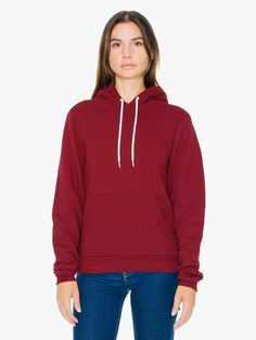 American Apparel tomboy: This pullover hoodie features a kangaroo pocket, drawstring hood and fitted body.