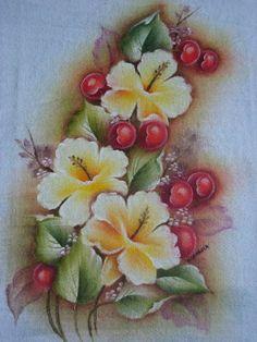 Pano de copa pintado à mâo, feito em tecido de sacaria. Tamanho 50x70.