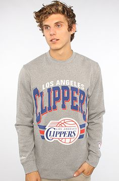Mitchell & Ness  The Los Angeles Clippers Sweatshirt in Gray