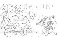 Exploring the island. Sketch for new book I'm working on for @harpercollinsus #explorer  #tortoise #animals #childrensillustration #childrensbook