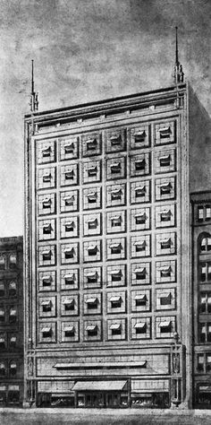 Frank Lloyd Wright - Project for an Office Building (1894)