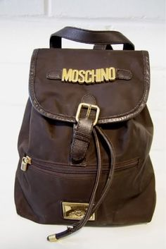 Moshino backpack. I have this with the original zippers ;)