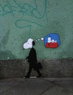 If you're going to do graffiti, do it so others can enjoy it as well. This makes me happy Melbourne Graffiti Me too, Snoopy. Me too. Banksy, Public Art, Banksy Art, Illustration, Animation, Art, Graffiti Art, Artsy, Cartoon