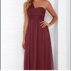 Dress bundle from Lulus Purchased online from Lulus. Great for holiday parties or formal dances! Lovely burgundy color. And a grayish maxi dress. No trades or holds. Lulu's Dresses Maxi