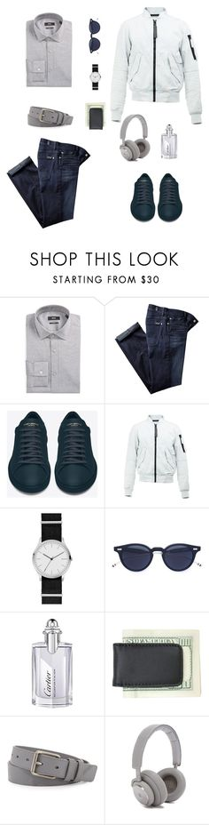 """""""casual Friday"""" by eri-berry ❤ liked on Polyvore featuring BOSS Hugo Boss, 7 For All Mankind, Yves Saint Laurent, G-Star Raw, Skagen, Thom Browne, Cartier, Royce Leather, Burberry and B&O Play"""