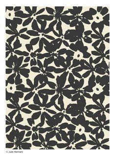 Pattern by Julie Hermant for Hartford Textile Patterns, Textile Prints, Textile Design, Design Art, Print Patterns, Art Prints, Textiles, White Prints, Plant Illustration