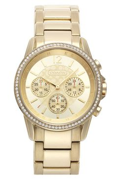 COACH Classic Signature Round Bracelet Watch, 39mm available at Nordstrom