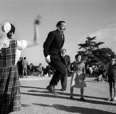 Salvador Dali, Barcelona, 1953 by Francesc Català-Roca #Portrait #Salvador_Dali