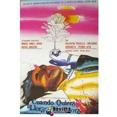 """En 1973 la película """"Cuando quiero llorar no lloro"""" de Mauricio Walerstein basada en la novela homónima del gran Miguel Otero Silva logra un éxito sin precedentes en taquilla; dando pie a un boom del llamado """"Nuevo Cine Venezolano"""" corriente de cine social muy famosa en los años setenta uno de los máximos exponentes sería Román Chalbaud. #Cine #VenezolanosEnElExterior #Venezuela #CineVenezolano"""