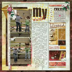 I made this using Nicole Young's Free to Fly Value Collection from Digital Scrapbook Place :) #digital scrapbooking