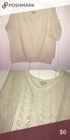 Cream Knit Sweater Top Cream Knit Sweater Top / decent condition Tops