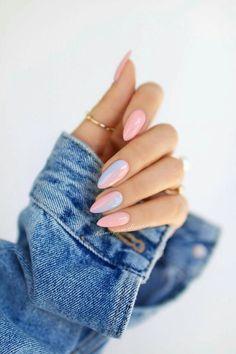 Nageldesign - Nail Art - Nagellack - Nail Polish - Nailart - Nails Amanda Wedding Gifts: Unique And Pastel Nails, Cute Acrylic Nails, Cute Nails, Pastel Blue Nails, Acrylic Tips, Acrylic Colors, Hair And Nails, My Nails, Summer Shellac Nails
