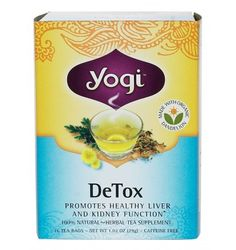 Yogi DeTox is a gentle way to help the body cleanse itself by aiding the two primary filtering organs, the liver and kidneys. A delicious tea that supports proper liver and kidney function.