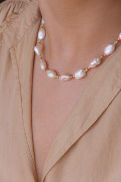 Savannah — hey you jewelry Seed Bead Jewelry, Cute Jewelry, Pearl Jewelry, Beaded Jewelry, Jewelery, Beaded Bracelets, Diy Choker, Diy Necklace, Necklace Designs