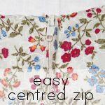 centered zipper + pattern grading tutes & more!