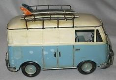 Volkswagen Metal VW Van Bus Car Home Decoration Office Ocean Surf Boards NEW