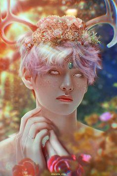 Taehyung Fanart, Bts Taehyung, Bts Photo, Foto Bts, Bts Art, V Bts Wallpaper, Bts Drawings, Pencil Drawings, Bts Chibi