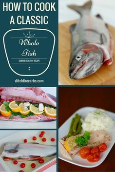 See how to cook a whole fish using this simple and healthy recipe. Whole fish is incredibly moist and tender with the delicate flavour of lemon and parsley. | ditchthecarbs.com