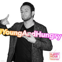 #YoungAndHungry #FreeformHappyHour Young & Hungry, Happy Hour, It Cast, Lights, Tv, Movies, Movie Posters, Free, Fictional Characters