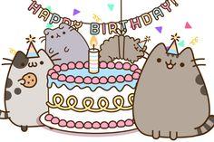 pusheen-s-birthday-party-fb. Pusheen Happy Birthday, Cat Birthday, Happy Birthday Cards, Birthday Greetings, Birthday Wishes, Birthday Parties, Funny Birthday, Cute Happy Birthday Images, Gato Pusheen