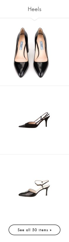 """""""Heels"""" by alexandra-m-j ❤ liked on Polyvore featuring shoes, pumps, nero, pointy-toe pumps, chunky high heel pumps, high heeled footwear, chunky heel shoes, high heel shoes, chanel pumps and slingback pumps"""