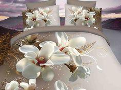 Pościel 3D STANDARD 220 x 200 cm. Z Prześcieradłem Kwiaty KOD-739-09 :: Pościel…