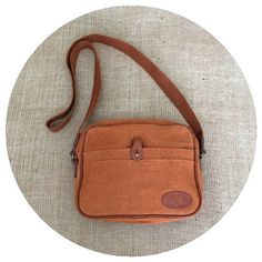 Authentic Vintage Mulberry Tan Canvas Fabric by MOONRIVERhandbags