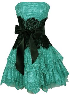Mint strapless short bridesmaid dress with black ribbon around the wait nice for beach weddings and summer weddings