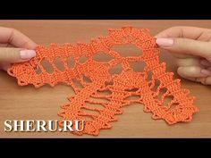 Crochet Bruges Lace Motif Урок 16 часть 1 из 2 Брюггское кружево крючком - YouTube