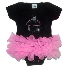 Birthday Cupcake Tutu Onesie ($55) ❤ liked on Polyvore featuring baby, kids, baby clothes, baby girl and baby stuff