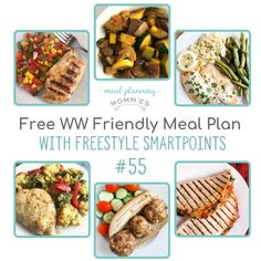 A free dinner WW FreeStyle friendly meal plan, including a free printable grocery list. Recipes are between WW FreeStyle Smart Points per serving. Ww Recipes, Popular Recipes, Healthy Recipes, Weight Watchers Meal Plans, Recipe Builder, Meal Planning Printable, Free Meal Plans, Food Lists, Healthy Choices