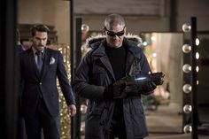Grey Damon as Sam Scudder and Wentworth Miller as Leonard Snart/Captain Cold on The Flash kind of The Flash Season 3, Leonard Snart, Dominic Purcell, Geoff Johns, Comic Book Publishers, Candice Patton, Danielle Panabaker, Superhero Villains