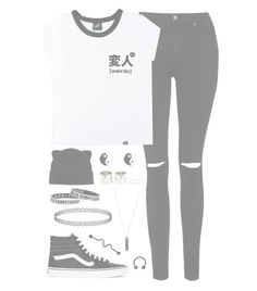 """""""//COOL//"""" by alex-bows ❤ liked on Polyvore featuring Topshop, Illustrated People, Vans, Forever 21, River Island and Karen Kane"""