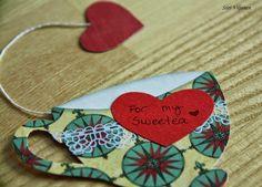 Käsitöitä flamencohame hulmuten * Siiri Viljanen - tea cup bookmark