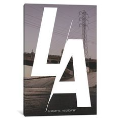 Mercury Row Los Angeles (34° N, 118.2° W) Graphic Art on Wrapped Canvas Size: