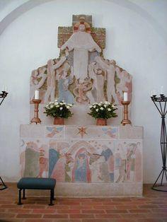 Revninge Kirke, altergruppe af Gunnar Hansen 1952