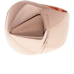 Marc by Marc Jacobs Cone Head Ring ($25) ❤ liked on Polyvore featuring jewelry, rings, rose gold, pink gold rings, red gold jewelry, rose gold rings, marc by marc jacobs and rose gold jewelry