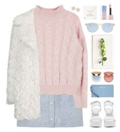 """""""my sweet love won't you pull me through"""" by sierrasaphira ❤ liked on Polyvore featuring River Island, Topshop, Nly Shoes, Tommy Mitchell, Dogeared, MICHAEL Michael Kors, Illesteva, Marc by Marc Jacobs, Isaac Mizrahi and tarte"""