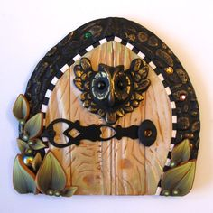 Wise Owl Fairy Door Pixie Portal by Claybykim on Etsy, $20.00