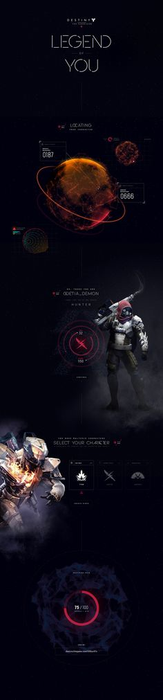 Destiny Legend of You on Web Design Served
