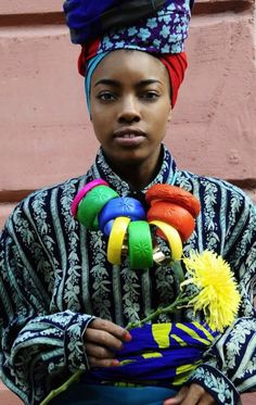 Urban Nigerian Fashion - The Kezia Frederick Graduate collection is as vibrant and patterned as tribal-inspired fashion come. Rife with colorful turbans, chunky jewelry and. African Inspired Fashion, African Fashion, Nigerian Fashion, African Style, Folk, Central Saint Martins, We Are The World, Fashion Mode, African Women