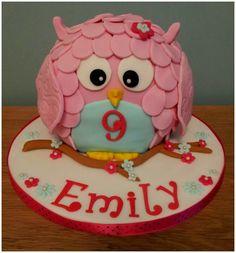 Owl birthday cake #dollymixercakes