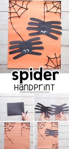Spider Handprint Craft - The Best Ideas for Kids