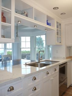 Galley Kitchen Design Ideas cool galley kitchen design ideas w92da 36 Small Galley Kitchens We Love Chevron Tile Subway Tile Backsplash And Gray Cabinets
