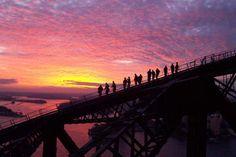 Sydney Bridge Climb - a 3.5 hour guided tour to the top of the Sydney Harbour Bridge, 134 metres above Sydney Harbour