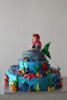 Arial Birthday Cake