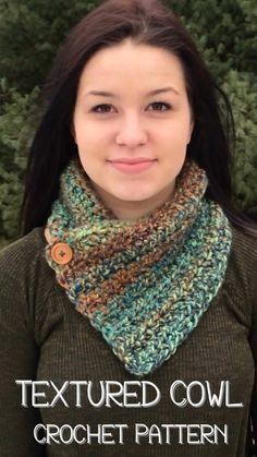This cowl can be made in only a few short hours! It makes a wonderful last minute gift without looking like you just whipped it together. Crochet Cowl Free Pattern, Easy Knitting Patterns, Crochet Patterns, Crochet Scarves, Crochet Shawl, Crochet Infinity Scarf Pattern, Crochet Neck Warmer, Crochet Projects, Couture