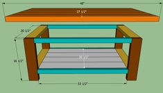 Unique Simple Coffee Table Plans 48 about Remodel Interior Designing Home Ideas with Simple Coffee Table Plans - Table Furniture Ideas Build A Coffee Table, Garden Coffee Table, Simple Coffee Table, Coffee And End Tables, Coffee Table Design, Easy Coffee, Coffee Table Blueprints, Farm Table Plans, Diy Storage Trunk
