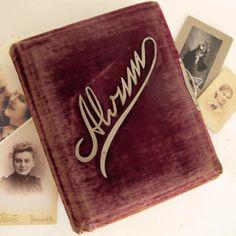 Antique Victorian Velvet Photo Album, $46
